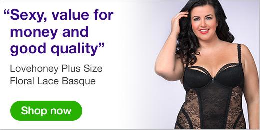 ^ Lovehoney Plus Size Floral Lace Basque