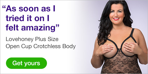^ Lovehoney Plus Size Open Cup Crotchless Body