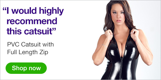 ^PVC Catsuit with Full Length Zip