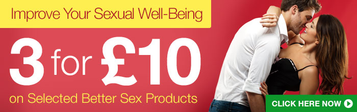 3 for &pound;10 on Selected Better Sex Products