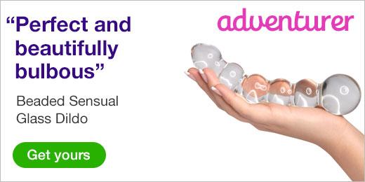 ^ Beaded Sensual Glass Dildo