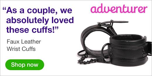 ^ Faux Leather Wrist Cuffs