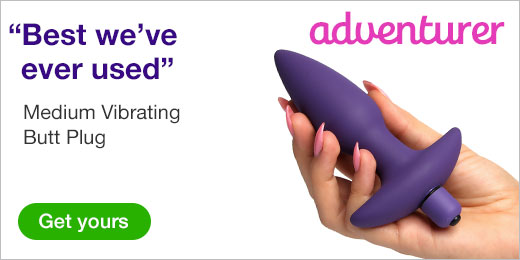 ^ Butt Tingler Medium Vibrating Butt Plug