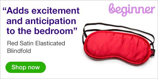 Red Satin Elasticated Blindfold