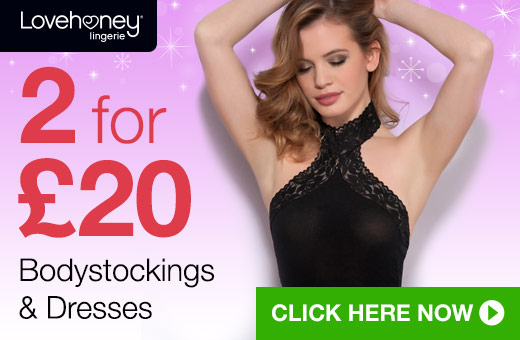 2 for 20 Bodystockings and Dresses