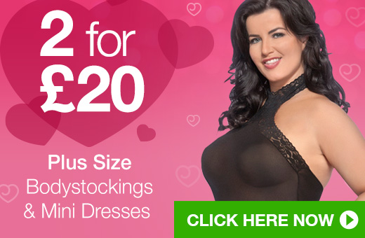 2 for @pound;20 Plus Size Bodystockings and Mini Dresses
