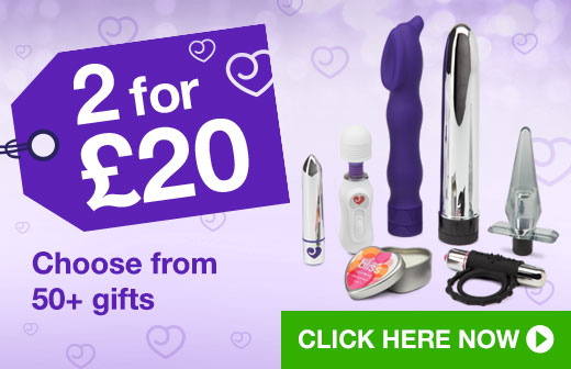 Choose from 50+ sex toys and gifts in our fantastic 2 for £20 offer