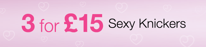 3 for £15 Sexy Knickers