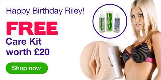^ Riley Steele Fleshlight Girls with FREE Care Kit