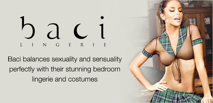 Baci balances sexuality and sensuality perfectly with their stunning bedroom lingerie and costumes