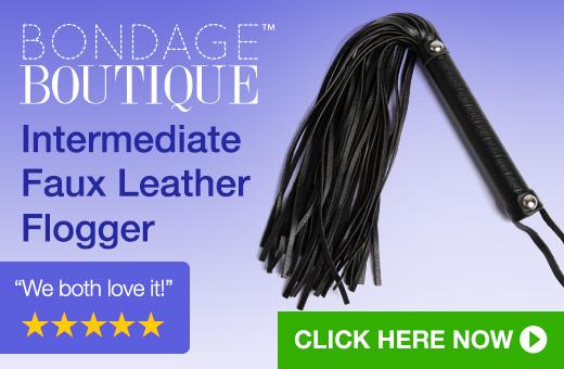Bondage Boutique Intermediate Faux Leather Flogger