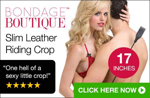 Bondage Boutique Slim Leather Riding Crop