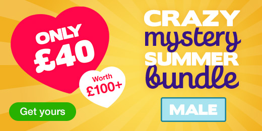 ^Crazy Mystery Summer Bundle for just 40 pounds! Male