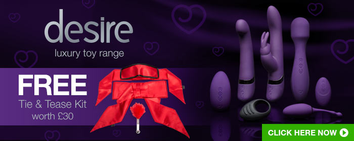 desire luxury toy range - free tie and tease