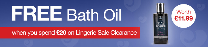 FREE Bath Oil when you spend £20 on Lingerie Sale Clearance