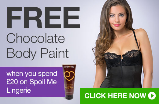 FREE Chocolate Body Paint when you spend @pound;20 on Spoil Me Satin Lingerie