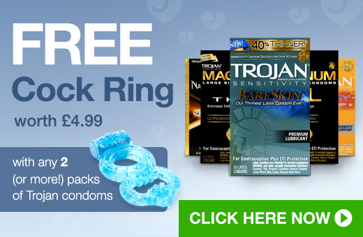FREE Cock Ring with 2 or more packs of Trojan condoms