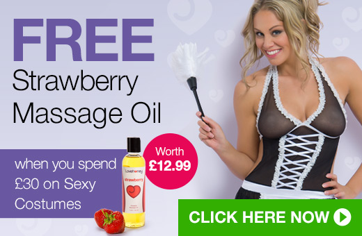 FREE Strawberry Massage Oil when you spend @pound;30 on Sexy Costumes