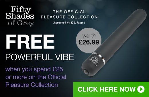 FREE Powerful vibe when you spend 25 on the official pleasure collection