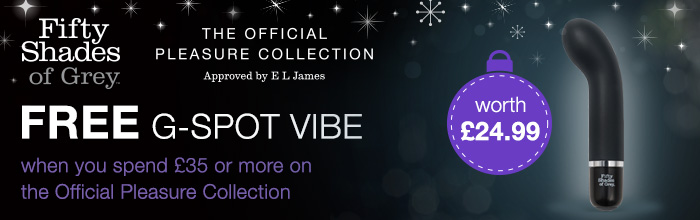 FREE Insatiable Desire G-Spot Vibe (worth £24.99) when you spend £35 on the Official Pleasure Collection