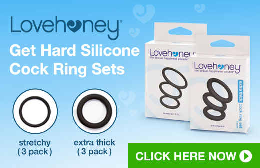 Lovehoney Get Hard Silicone Cock Ring Set
