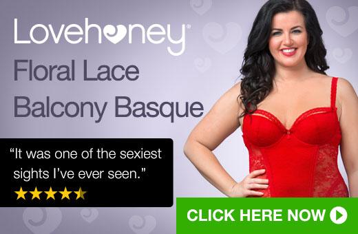 Lovehoney Plus Size Floral Lace Balcony Basque