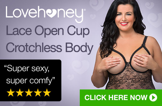 Lovehoney Lace Open Cup Crotchless Body