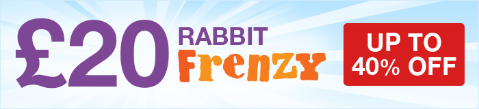 Rabbit Frenzy! Up to 40% OFF