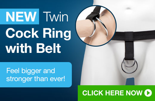 Twin Cock ring with belt