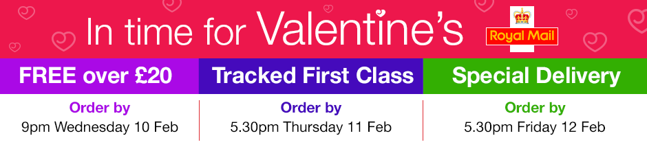 In time for Valentine's! Order by Wednesday 10 February