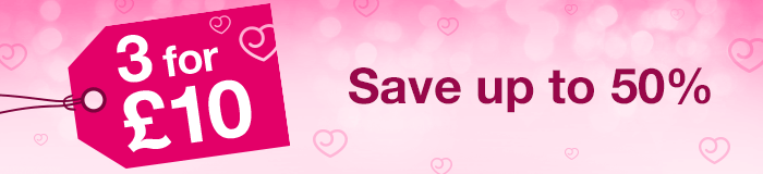 3 for 10 - save up to 50%