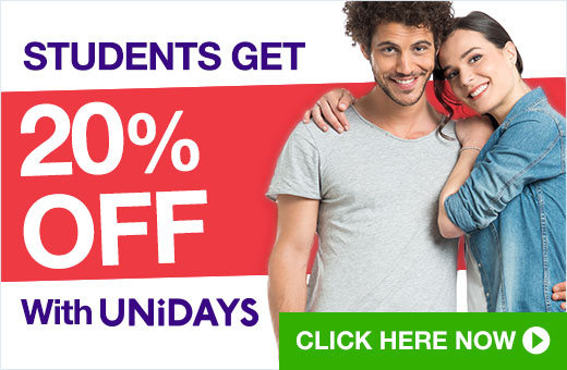 ^ Students get 20% off with UNiDAYS