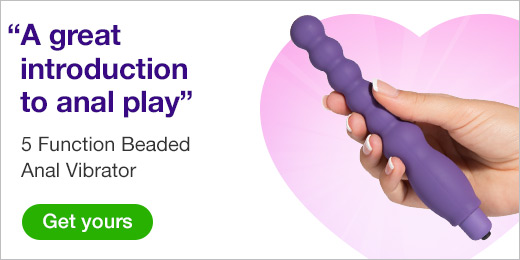 ^ Intro to anal play 5 function beaded anal vibrator