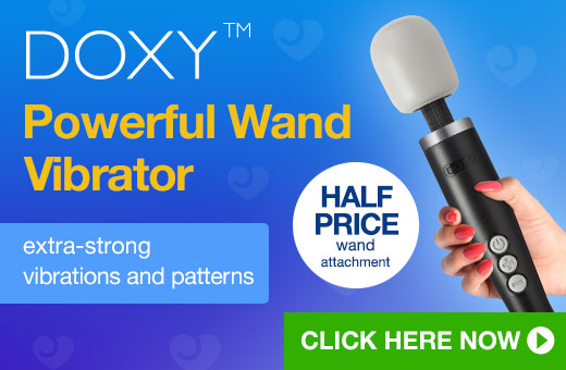 DOXY Powerful Wand Vibrator with half price attachment