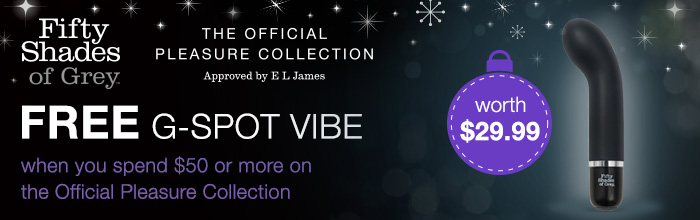 FREE Insatiable Desire G-Spot Vibe with the Official Pleasure Collection