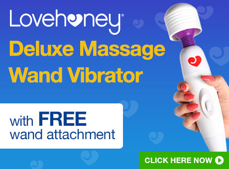 ^Lovehoney Deluxe Massage Wand Vibrator with FREE Wand Attachment