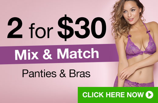 2 for $30 Mix and Match Knickers and Bras