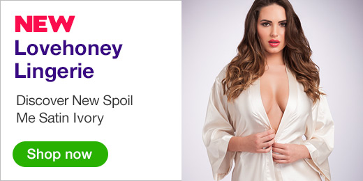 NEW Lovehoney Lingerie Discover New Spoil Me Satin Ivory