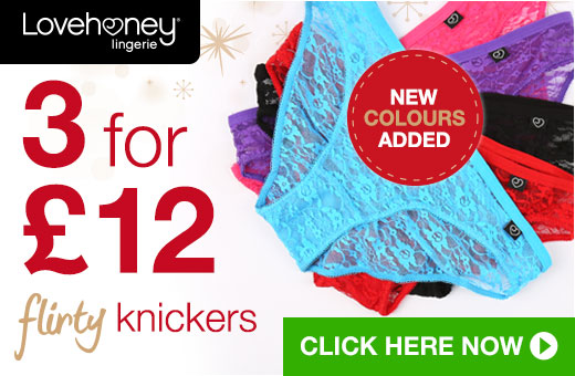 3 for 12 Flirty Knickers