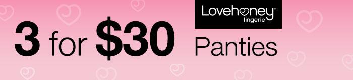 3 for $30 Panties