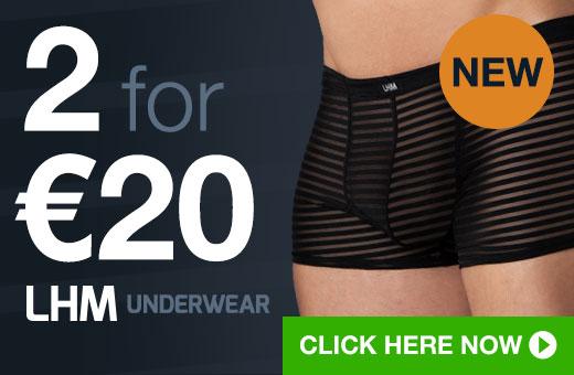 2 for €20 LHM Underwear