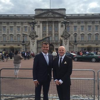 Richard and Neal at Buckingham Palace