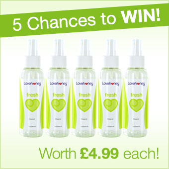 Win 1 of f5 LOvehoney Fresh Sex Toy Cleaner
