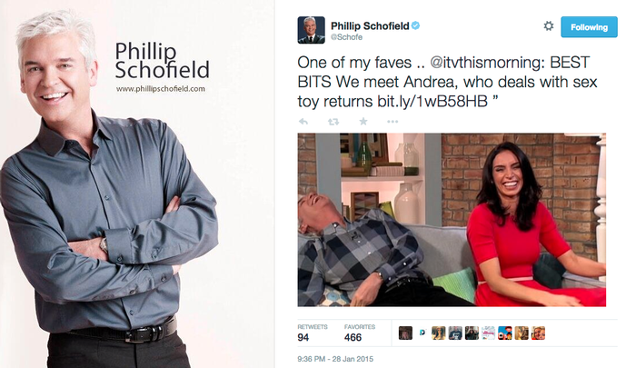 Phillip Schofield Tweet Andrea This Morning