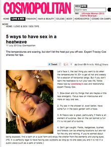 How to have great sex in a heatwave
