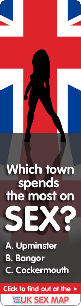 UK Sex Map - which town spends the most on sex?