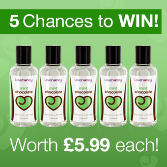 Win 1 of 5 Mint Flavoured Lubricants from Lovehoney