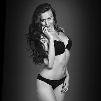 Striptease woman