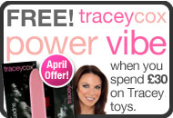 Get a free Tracey Cox Vibe worth £14.99 in April