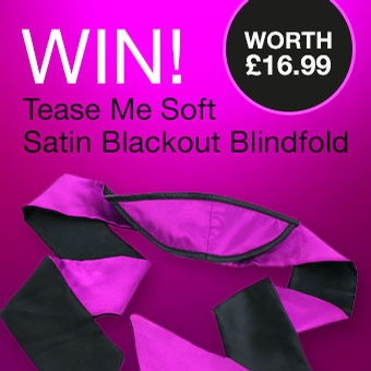 Win! Tease Me Soft Satin Blackout Blindfold